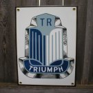 TRIUMPH PORCELAIN COATED SIGN BLUE