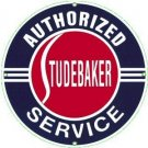 STUDEBAKER HEAVY STEEL BAKED ENAMEL SIGN 25.5""