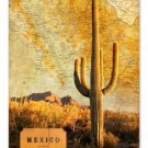 MEXICO MAP HEAVY METAL SIGN