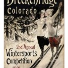 SKI BRECKENRIDGE COLORADO VINTAGE METAL SIGN