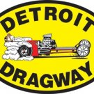 DETROIT DRAGWAY HEAVY METAL SIGN 24""