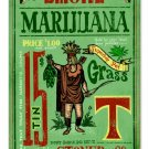 SMOKE MARIJUANA VINTAGE METAL SIGN