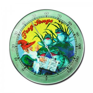 FROG SONGS HEAVY ROUND THERMOMETER