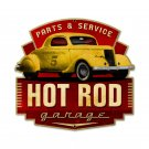 HOT ROD GARAGE PARTS SERVICE CUSTOM METAL SIGN