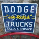 DODGE JOB RATED TRUCKS SALES SERVICE METAL TIN SIGN