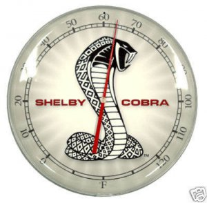 SHELBY COBRA RETRO THERMOMETER SIGN 14&quot;