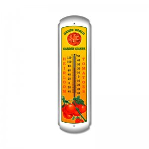 HEIRLOOM TOMATOES LARGE METAL THERMOMETER