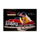 RED CADILLAC ELDORADO SMOOTH LARGE METAL SIGN 36""