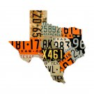 TEXAS LICENSE PLATES CUSTOM METAL SHAPE SIGN