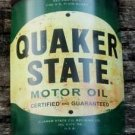 QUAKER STATE MOTOR OIL METAL CAN FACE SIGN