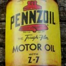 PENNZOIL MOTOR OIL METAL HALF CAN FACE SIGN