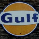 GULF DIECUT METAL SIGN