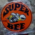 DODGE SUPER BEE LARGE ROUND EMBOSSED METAL SIGN 24""