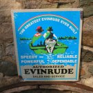 EVINRUDE SALES SERVICE TIN RETRO METAL SIGN