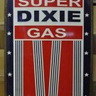 SUPER DIXIE GAS HEAVY RETRO METAL CURVED SIGN NEW