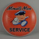 """MINUTE MAN SERVICE HEAVY METAL DOME SIGN 12"""""""