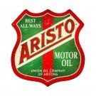 ARISTO MOTOR OIL RETRO METAL SHIELD SHAPE SIGN