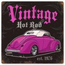 VINTAGE HOT ROD EST. 1976 HEAVY METAL SIGN FREE SHIPPING P