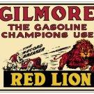 GILMORE RED LION GASOLINE METAL SIGN