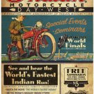 INDIAN MOTORCYCLE 110TH ANNIVERSARY POSTER HEAVY METAL SIGN