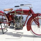 VINTAGE INDIAN RED MOTORCYCLE