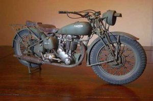 OLD VINTAGE TRIUMPH MOTORCYCLE