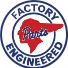 PONTIAC FACTORY ENGINEERED HEAVY ROUND SIGN 12""