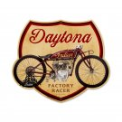 DAYTONA INDIAN FACTORY RACER MOTORCYCLE HEAVY METAL SIGN