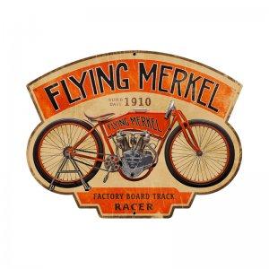FLYING MERKEL CUSTOM METAL SHAPE SIGN