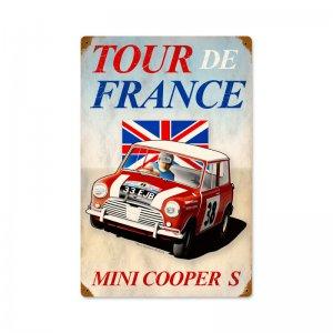 TOUR DE FRANCE MINI COOPER S METAL SIGN