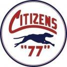 CITIZENS 77 HEAVY ROUND STEEL SIGN 25.5