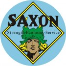 SAXON MOTORCARS HEAVY ROUND STEEL SIGN 25.5