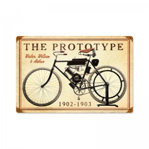 PROTOTYPE 1902 MOTORCYCLE METAL SIGN HOME GARAGE NOSTALGIA