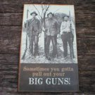 BIG GUNS METAL TIN SIGN HOME GARAGE LODGE SHOP DECOR B