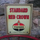 STANDARD RED CROWN METAL SIGN VINTAGE LOOK
