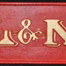 RED L&N VINTAGE LOOK RAIL ROAD SIGN CAST IRON
