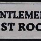 GENTLEMEN'S REST ROOM HEAVY CAST IRON SIGN