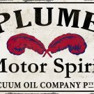 PLUME MOTOR SPIRIT HEAVY METAL RECTANGLE SIGN