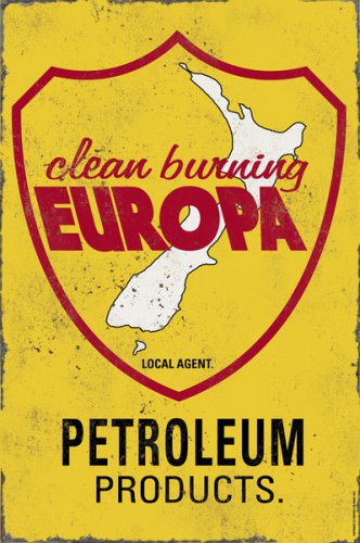 EUROPA PETROLEUM PRODUCTS HEAVY METAL SIGN