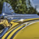 YELLOW PONTIAC HOOD ORNAMENT HEAVY METAL SIGN