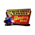 BUSTED KNUCKLE GARAGE WELDING HOT TIP HEAVY METAL SIGN