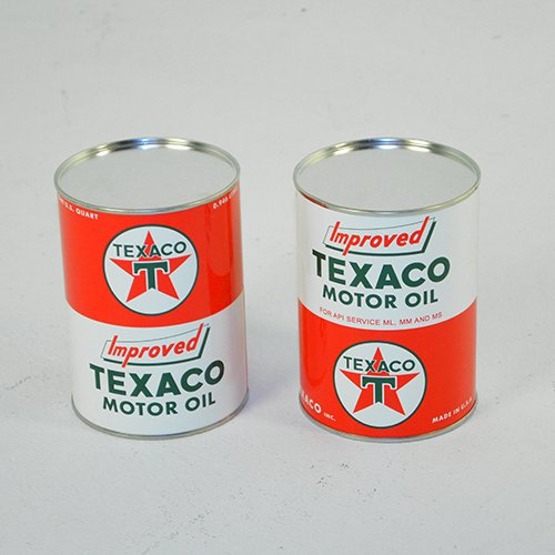 Texaco Motor Oil Can T Star Logo New All Metal Painted