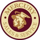 MERCURY SALES SERVICE HEAVY METAL SIGN FORD MERCURY DEALER LOGO