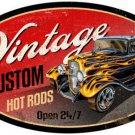 HOT ROD VINTAGE CUSTOM HEAVY METAL SIGN HOME GARAGE DECOR