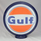GULF GASOLINE GAS PUMP GLOBE SIGN GLASS LENSES oil fuel filling STATION