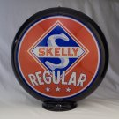 SKELLY REGULAR GAS PUMP GLOBE SIGN GLASS LENSES oil fuel filling STATION