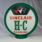 SINCLAIR HC THREE CHECKS GAS PUMP GLOBE GLASS LENSES gas oil filling station