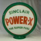SINCLAIR POWER X GAS PUMP GLOBE GLASS LENSES gas oil filling station