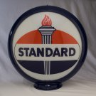 Standard Gas Pump Globe Dark Blue Plastic Body Two Glass Lenses Gas Oil Filling Station Decor