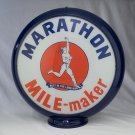 MARATHON MILE MAKER GAS PUMP GLOBE GLASS LENSES oil filling station